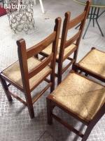4 sedie modello arte povera