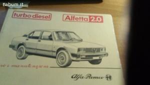 Alfetta turbo diesel 2.0 edizione 0