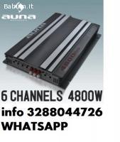Amplificatore auna car hifi 6 5 3 2