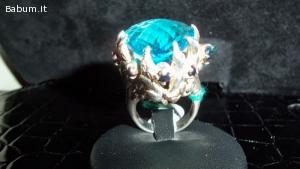 Anello argento 925 con topazio