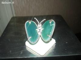 Anello argento 925 giada e zirconi