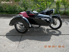 bmw r25/2 del 1953 sidecar epoca or