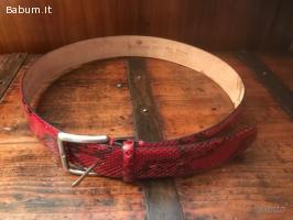 Cintura in pitone rosso