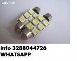 Coppia lampadine siluro led c5w new
