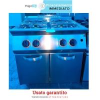 Cucina a gas 4 fuochi professionale