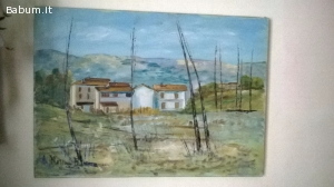 FERMA MAGGIONI olio su tela 50 x 70