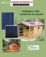 Kit Pannello Fotovoltaico per Baita