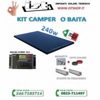 Kit pannello solare camper 245w pol
