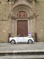 Maggiolone cabrio bianco per eventi