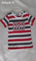 Maglietta a righe bimbo tg.2 anni