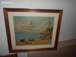 """quadro """"Paesaggio marino"""""""