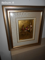 Quadro policromia su foglia oro