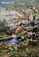 Quadro primavera cucito a mano