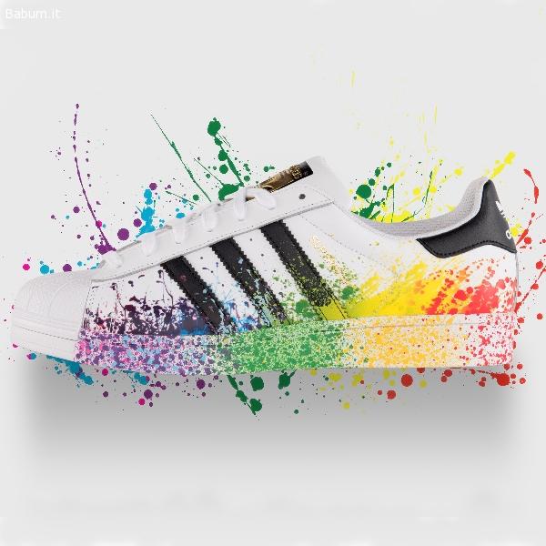 scarpe adidas superstar vernice