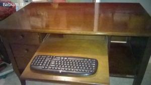 Scrivania rustica in legno massello