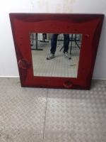 Specchio arredo realizzato a mano