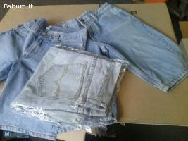 Stock bermuda uomo in jeans