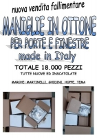 Stock maniglie in ottone made in It