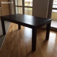 Tavolo allungabile in legno rovere