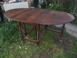 tavolo antico massello noce