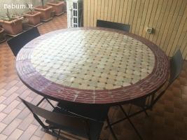 Tavolo con mosaico diametro cm 120