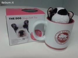 Tazze Mug + peluche cane Bulldog Fr