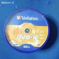 VERBATIM DVD-R n. 50 4.7 GB 16X