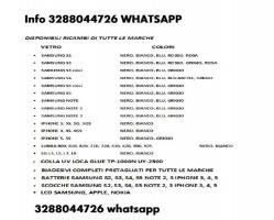 VETRI SAMSUNG S2 S3 S4 S5 S6 NOTE 2